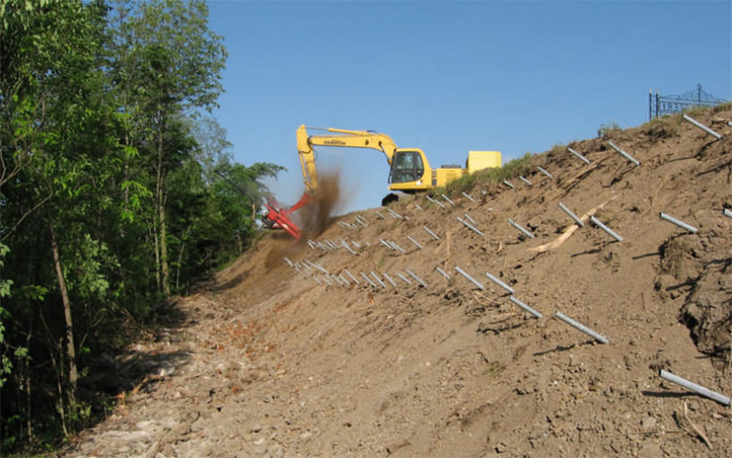 Self Drilling Anchor for Slope Stabilization