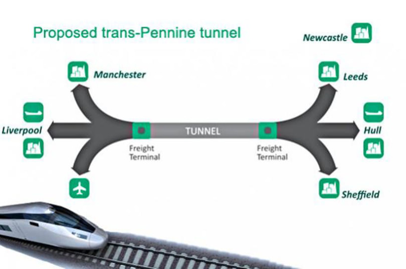 Trans-Pennine Tunnel Route Options