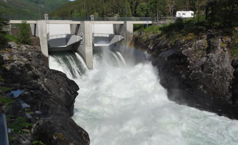 Nedre Otta hydropower plant in Norway